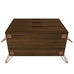 Rockefeller Mid-Century- Modern Dresser with 3- Drawers in Brown Thumbnail