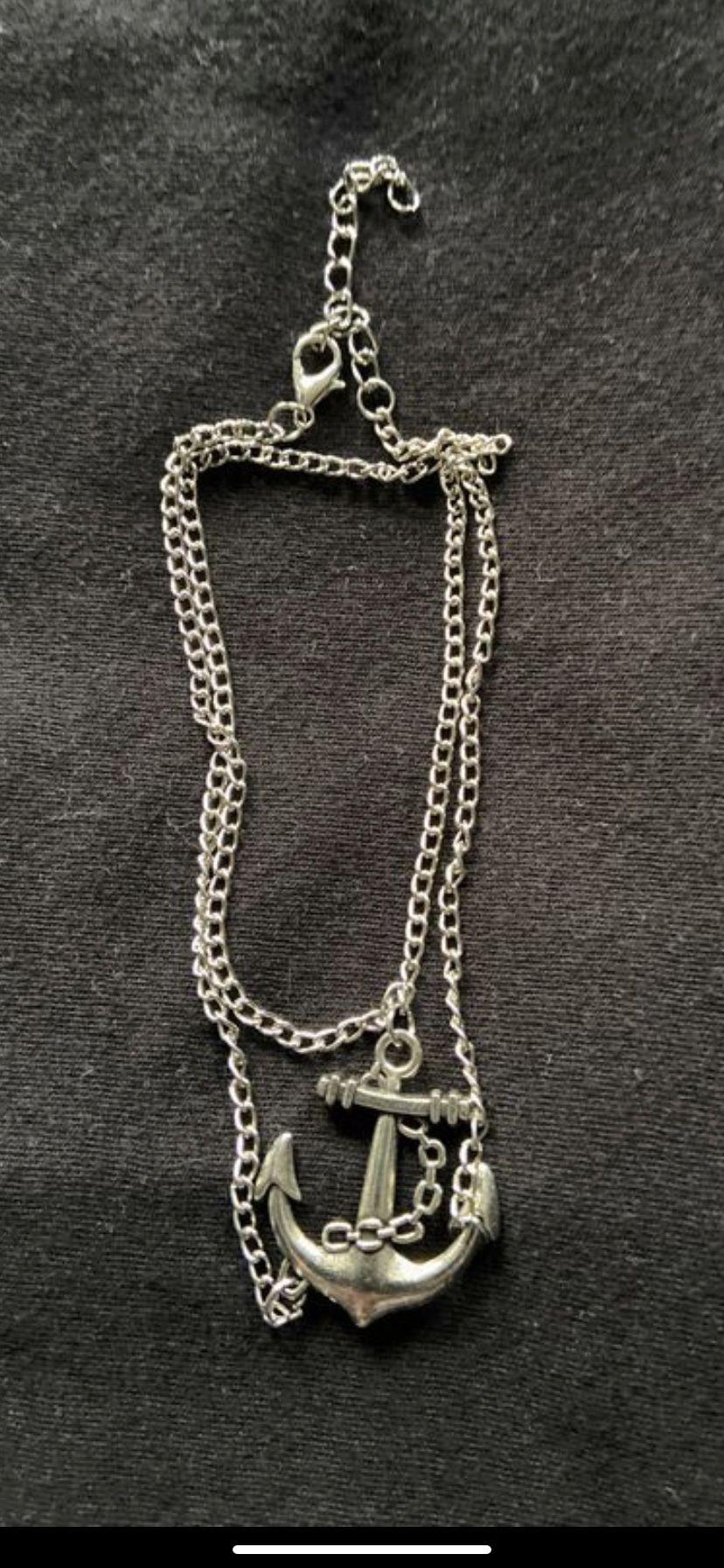 Sterling silver 925 anchor bracelet or anklet.