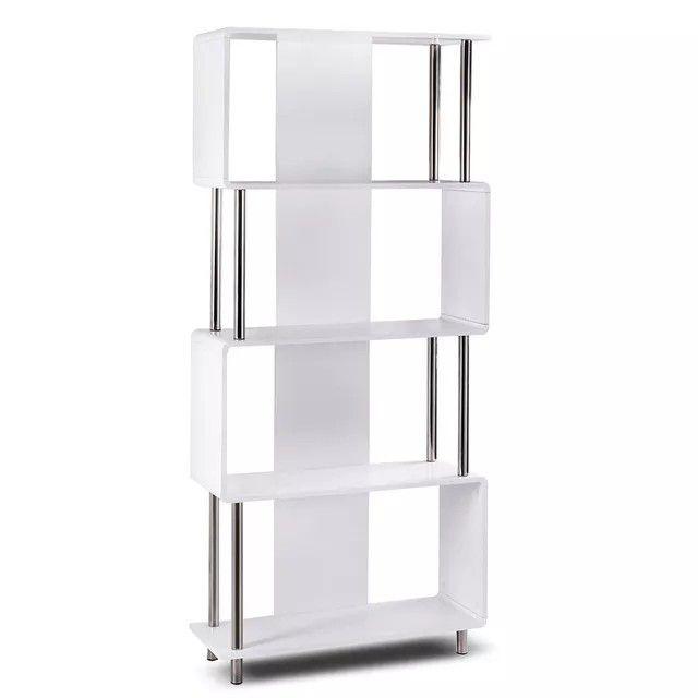 Modern 4 Shelf Bookcase