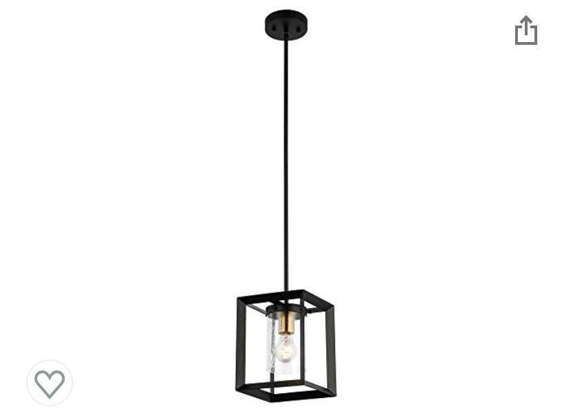 COTULIN Modern Industrial Black Pendant Light