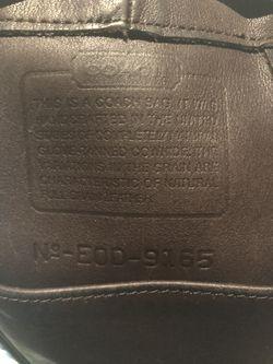 Vintage Brown Leather Coach Drawstring Purse  Thumbnail