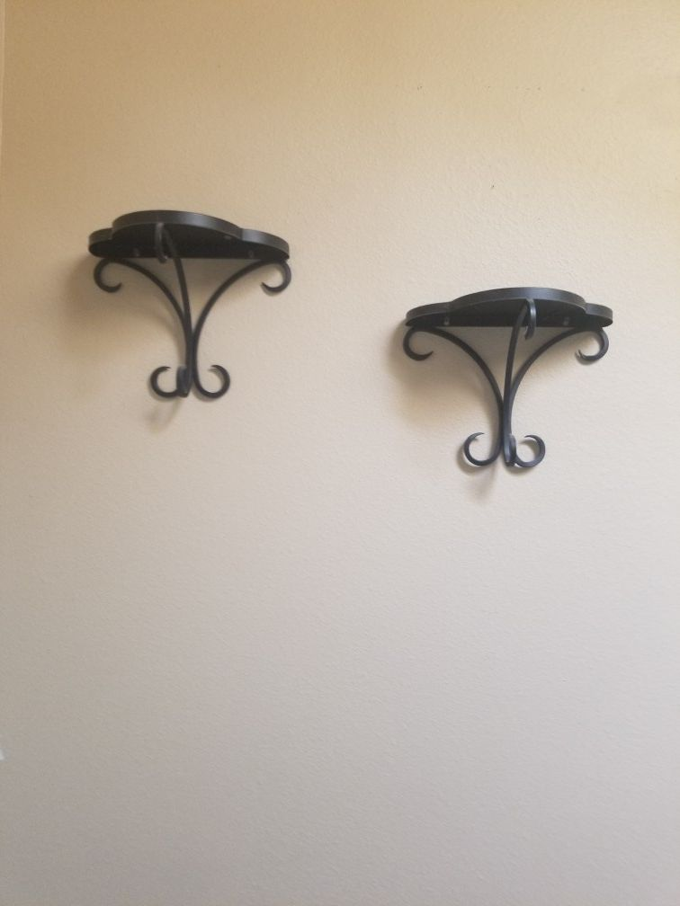 Wrought iron wall picture/candle holder's