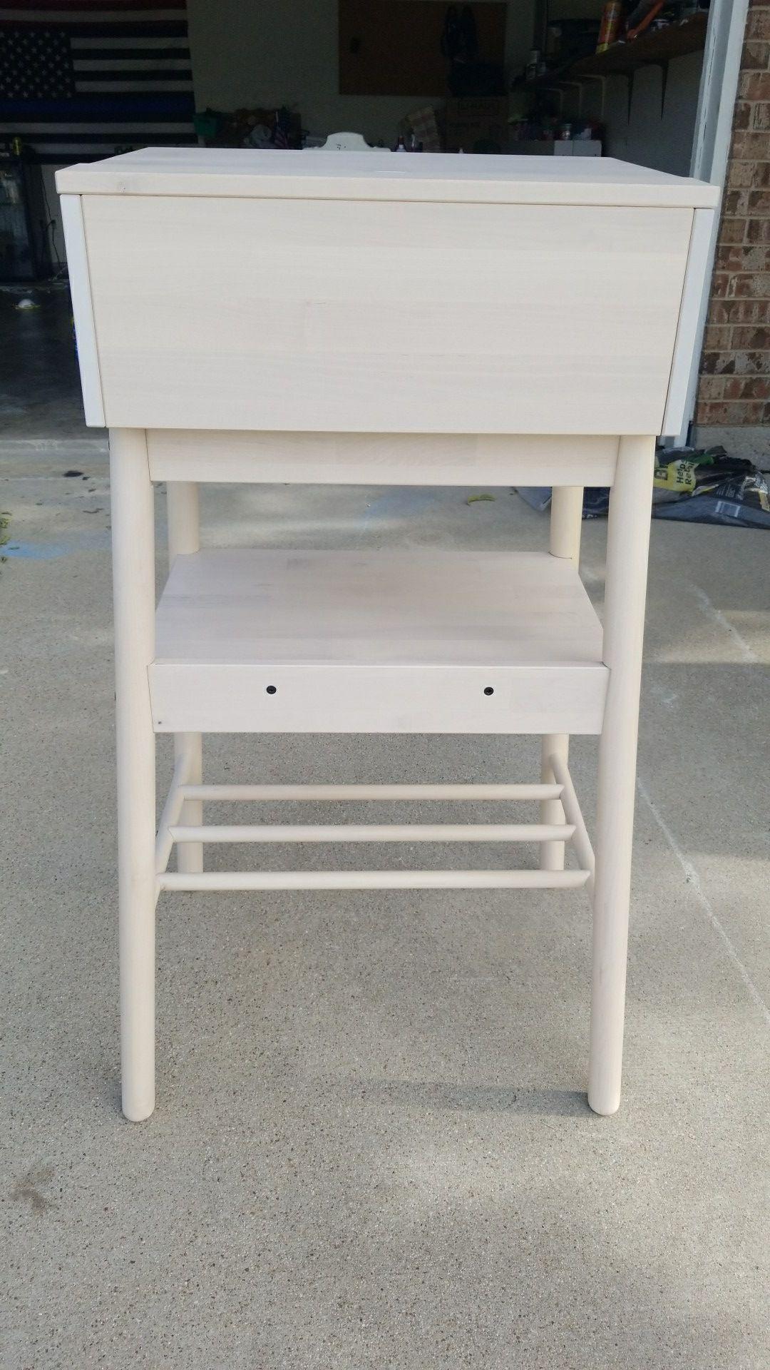 Wood Bar Height Mail Organizer or Minimalist Desk. Ikea Knotten Desk