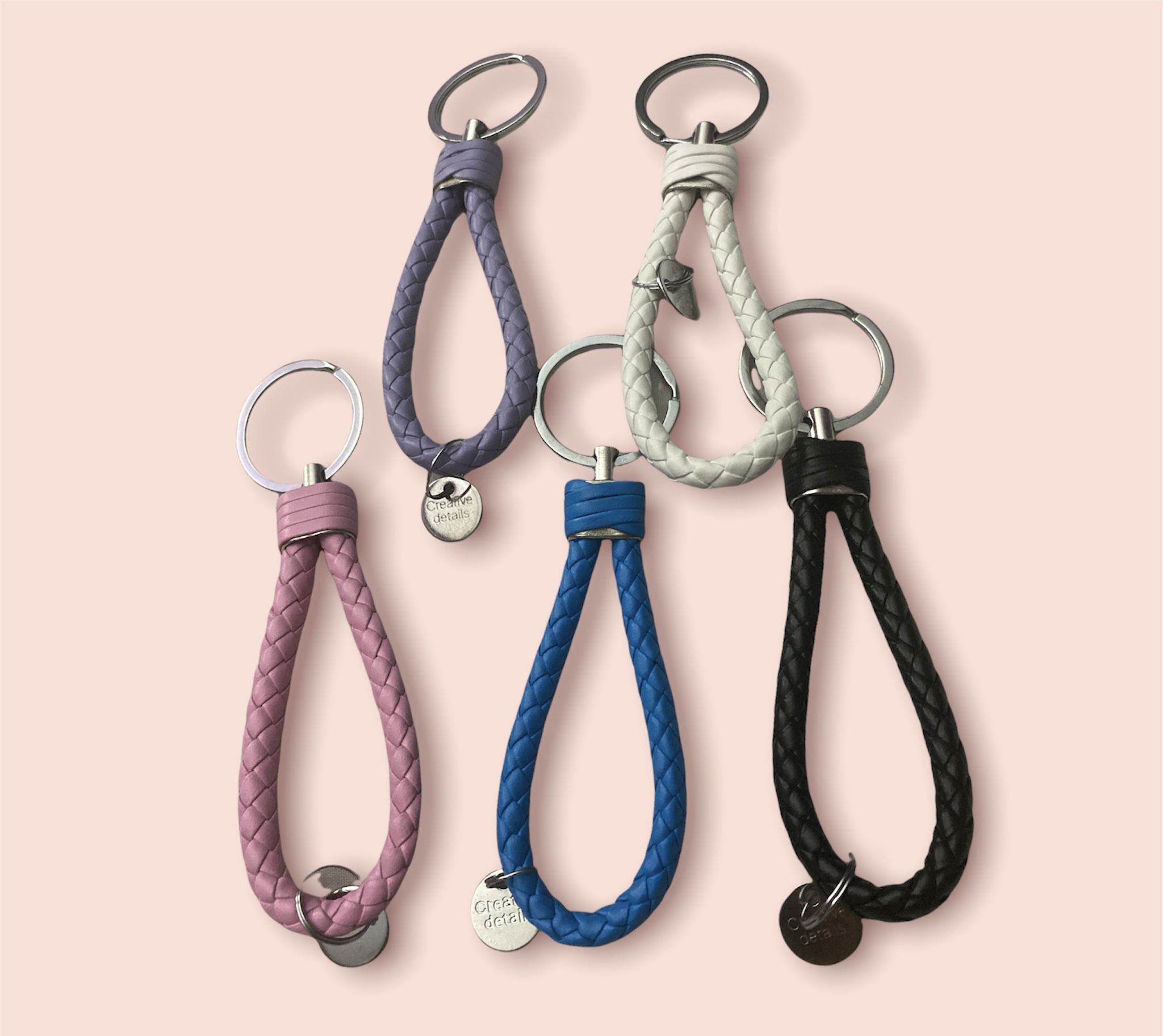 Leather Keychain Key Chain Ring Home Keyring Car Keychains for Women and Men