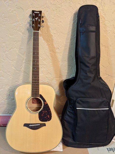 Yamaha Acoustic Guitar FG740SFM flamed maple