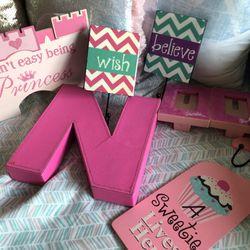 Pink Little Girls Room Decor Thumbnail