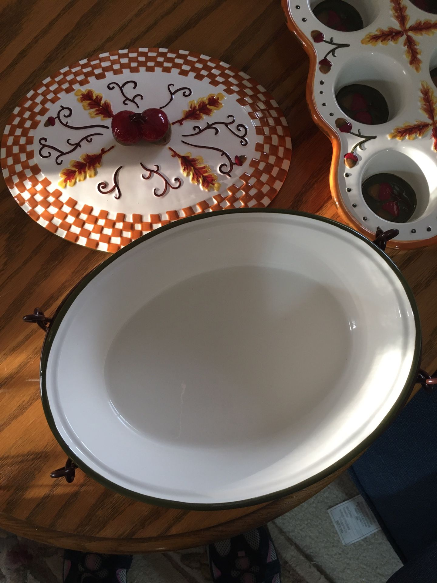 Temptations Fall Harvest Oval Baker & Muffin Pan