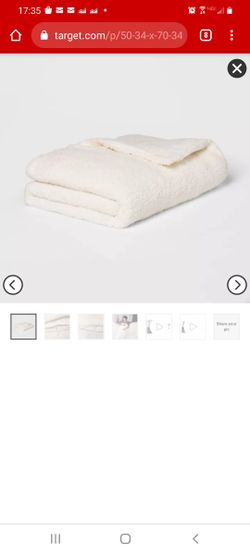 New Room Essentials 12lb Weighted Blanket Sherpa 2 Piece Thumbnail
