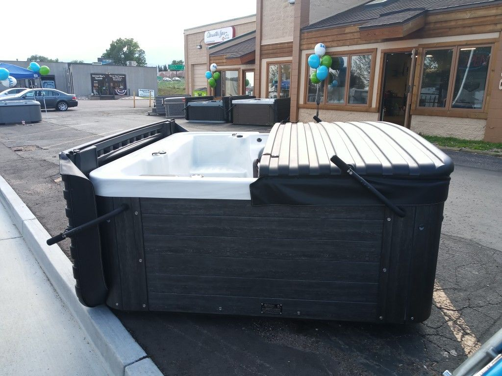 Huge hot tub blow out by Clearwater Spas ofColorado