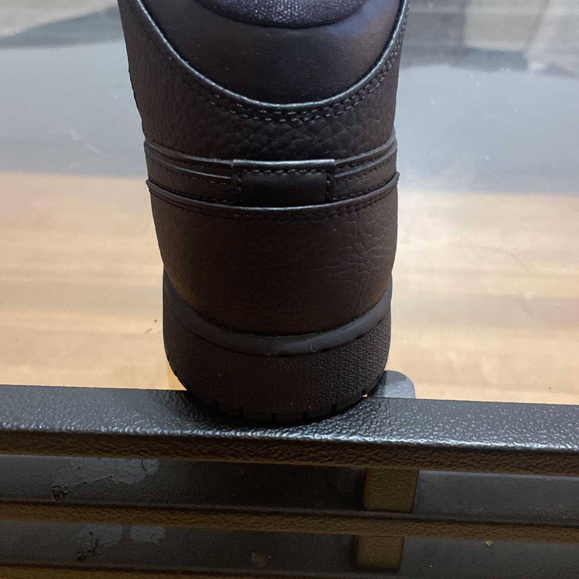 7y  Black Air Jordan 1 Mid (GS)