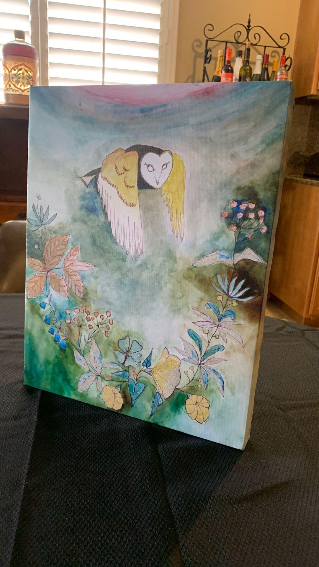 Wall Decor owl flowers