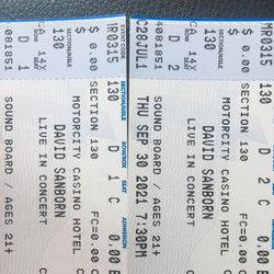 David Sanborn Tickets At The Motor City Soundboard Theatre Thumbnail