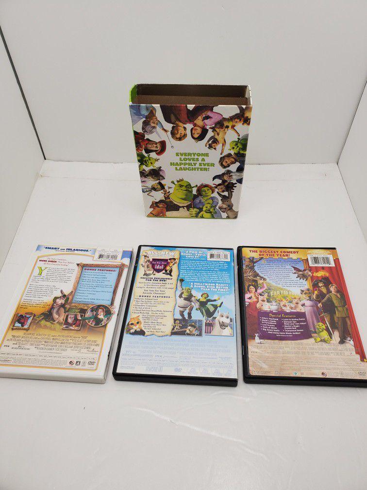 The Shrek Trilogy DVD's