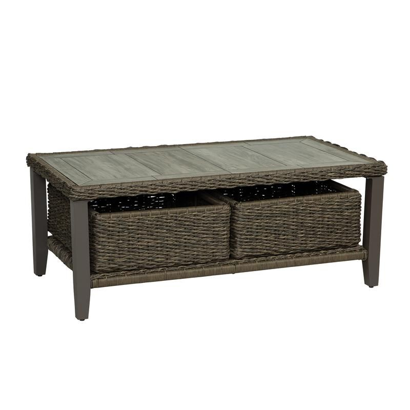 Living Accents Rochdale Rectangular Brown Stone Coffee Table - Case Of: 1;