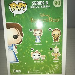 POP! Vinyl Disney Beauty and the Beast Peasant Belle Series 6 Funko Pop No.90 Factory Sealed Mint Condition  Thumbnail