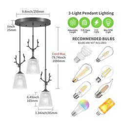 3 Light Pendant Lighting, Adjustable Thumbnail