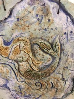 Mermaid decoration, ceramic art Thumbnail