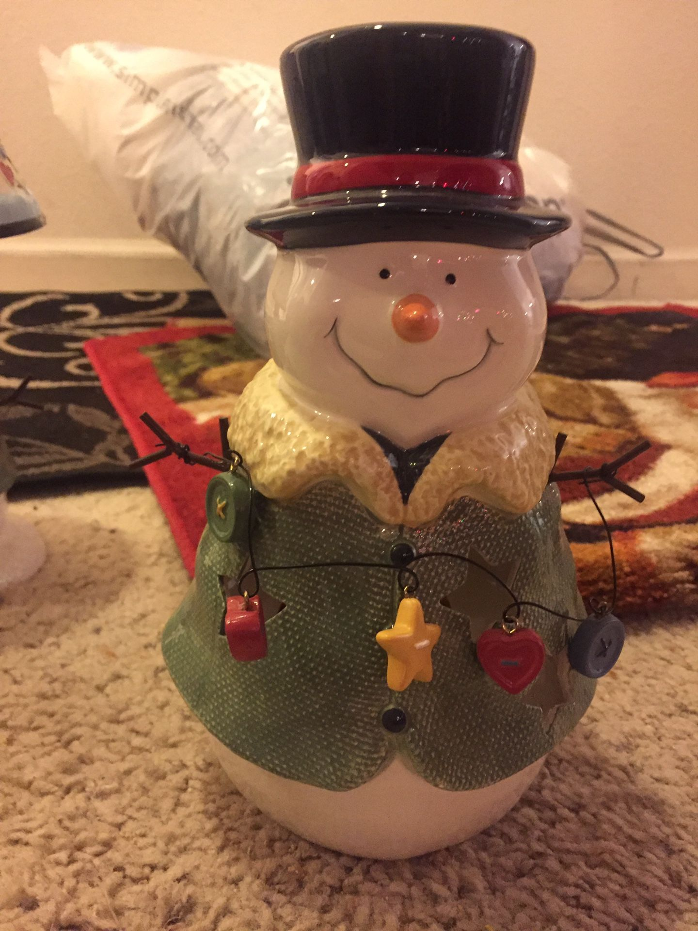 Snowman Christmas decorations. $25 for all!