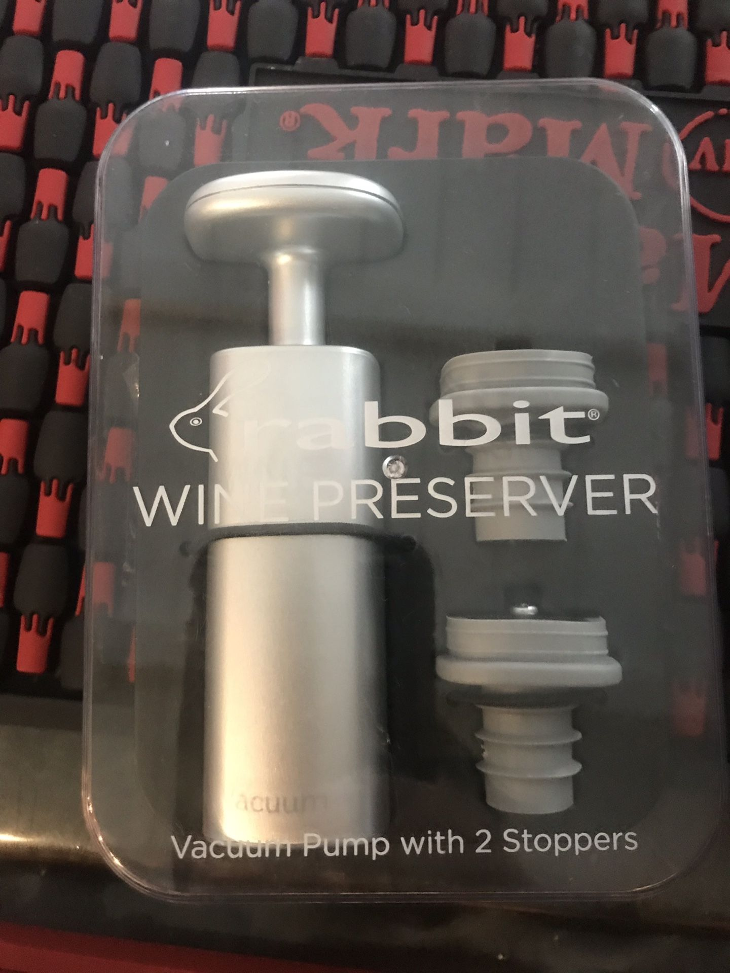 The Rabbit Wine Preserver with Two Wine vacuum Stoppers