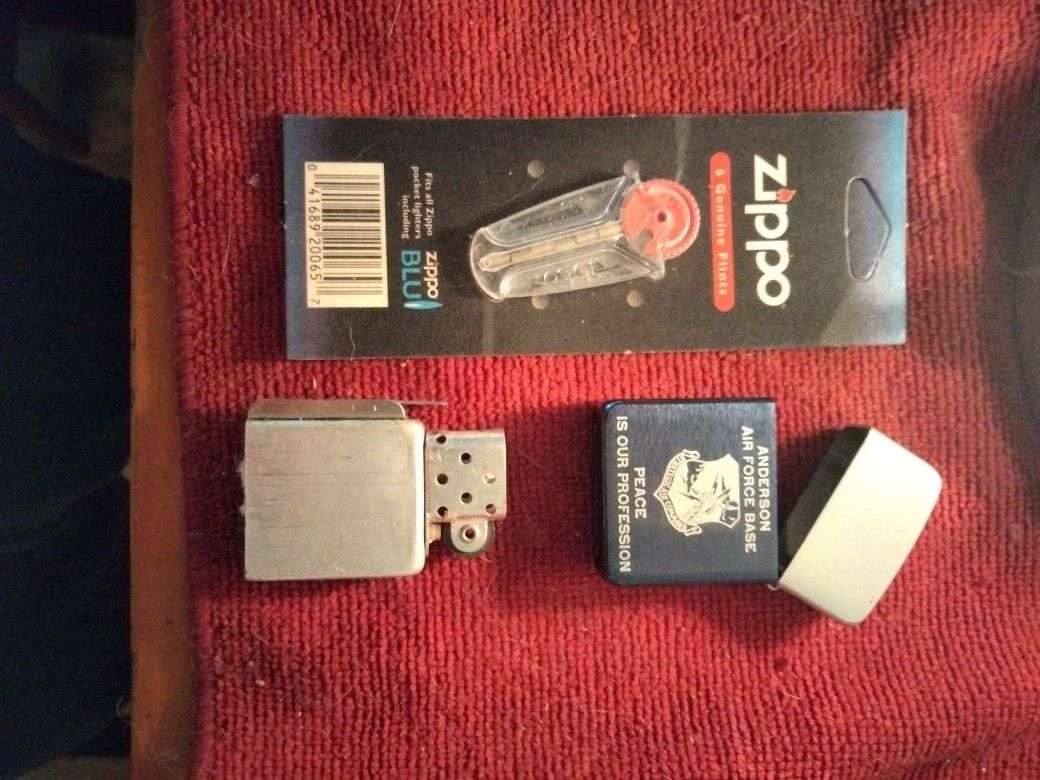 Zippo Lighter With Pack Of Flints