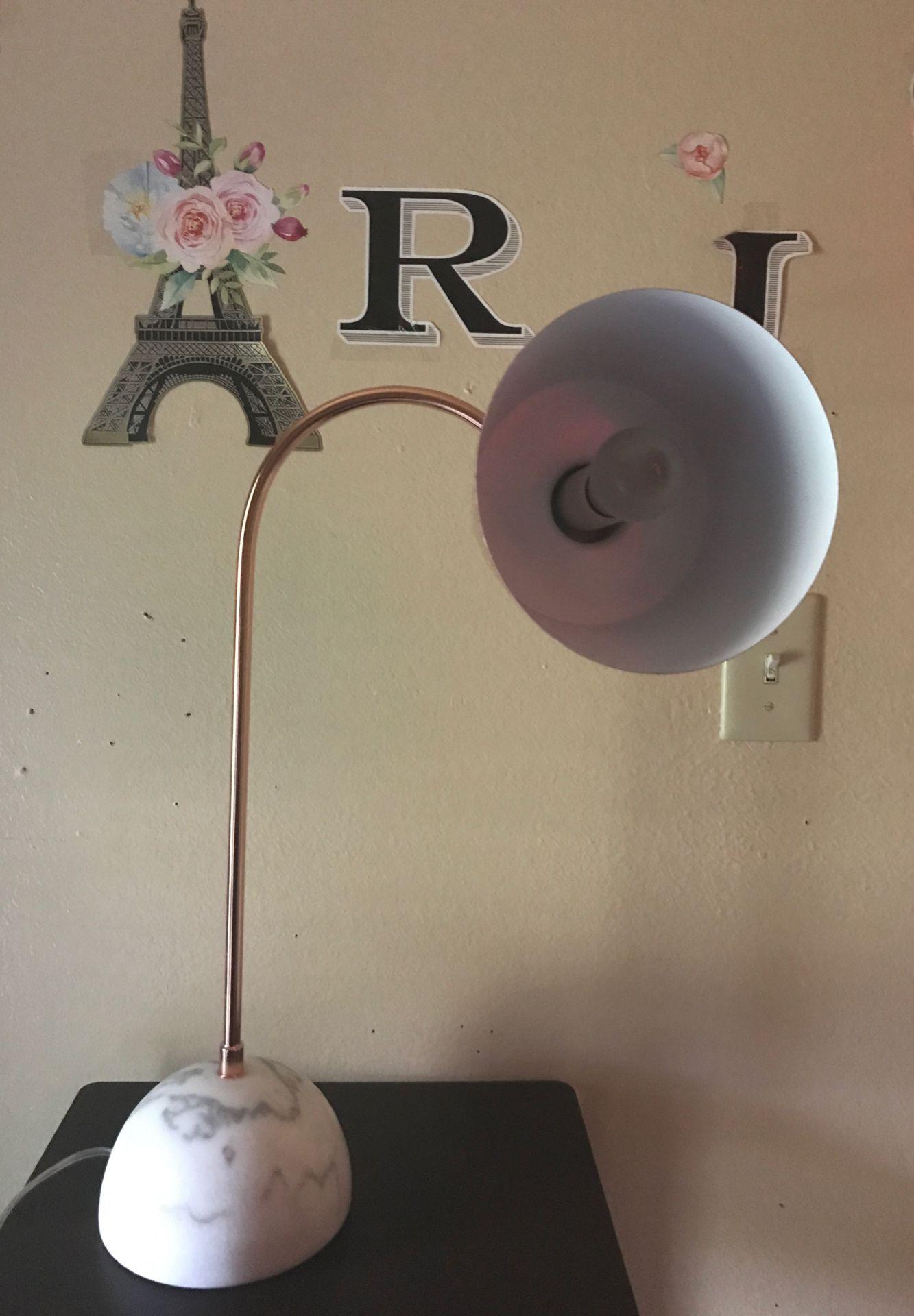 A modern desk lamp