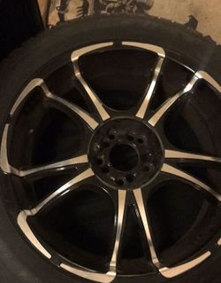 """20"""" Forte twisted rims with tires! Thumbnail"""