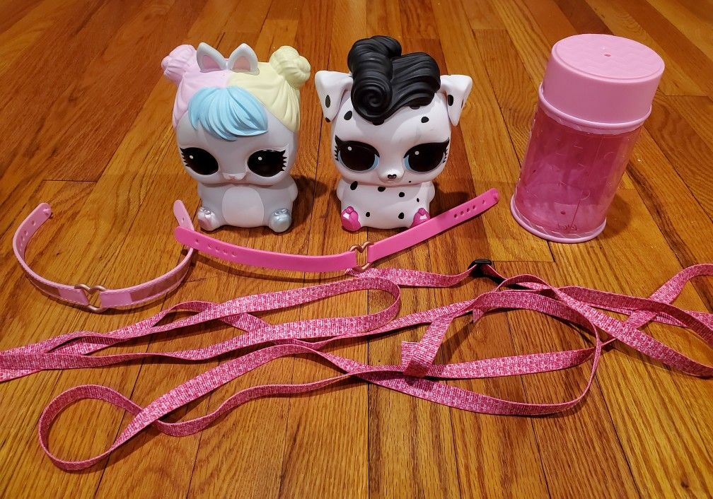 LOL Surprise Pet Piggybanks and Backpacks