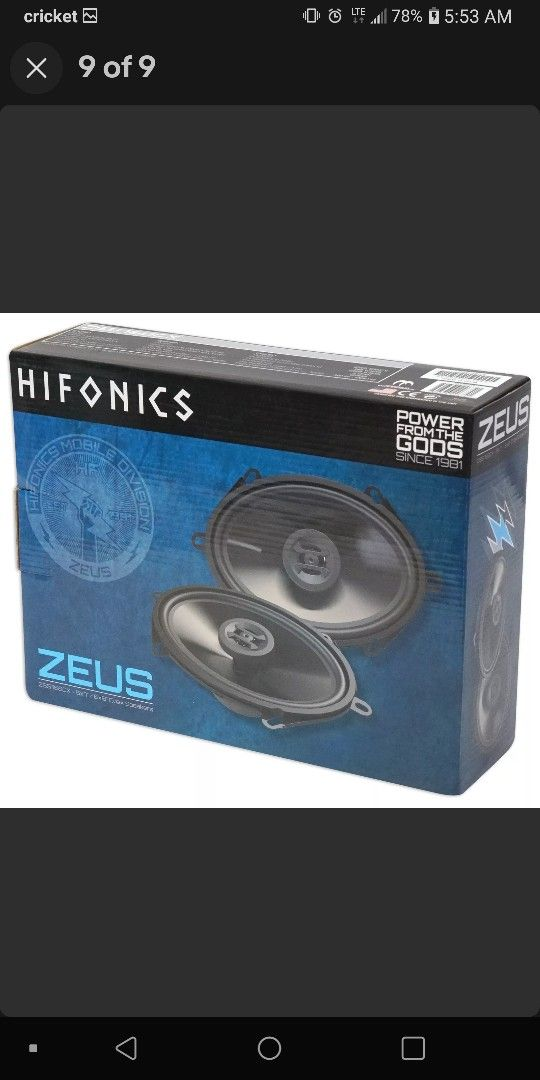 7 Inch Touchscreen 10.1 Android 16G Stereo And 4 Hifonics 6X8 250 Watts Speakers 1000 Watts Total Brand New In Original box