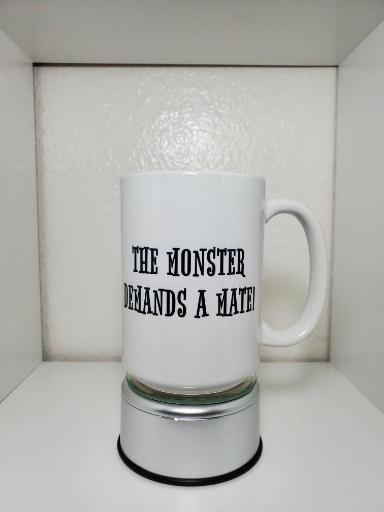 The Monster And The Bride  Custom 15 oz Coffee Mug