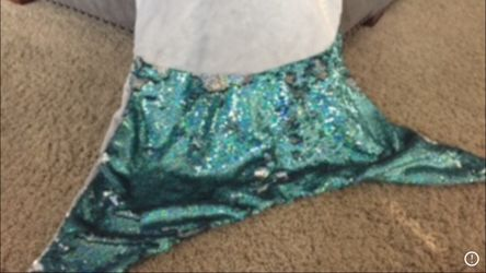 Mermaid tail blanket with flip sequins Thumbnail