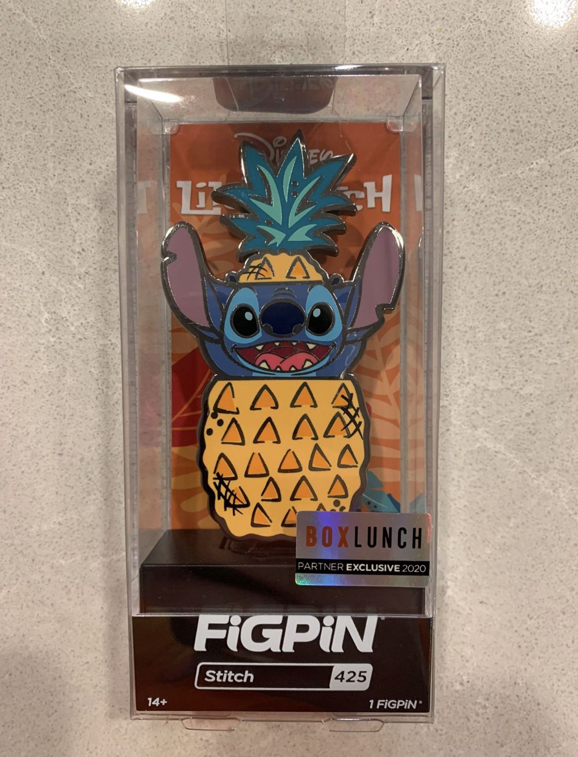 Pineapple Stitch FiGPiN Limited Edition LE2000 BoxLunch Exclusive 425 Lilo Disney
