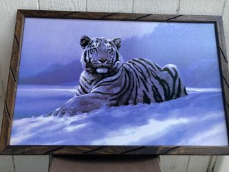 White Tiger 🐅 Frames Tattoos Shop Barbershop 💈 Home Decor Man Cave Posters Patios Living Room Cuadro  Thumbnail