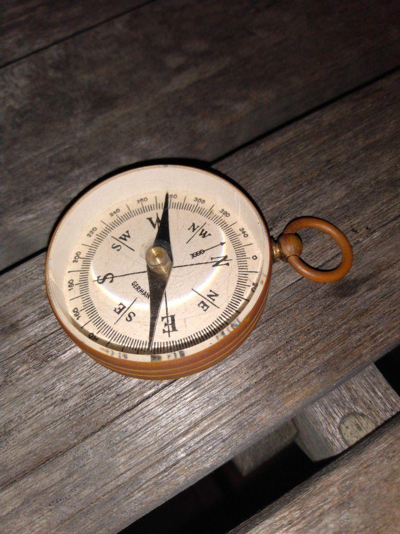 Antique German Compass Pre WW2 Very Beautiful & True Acuracy