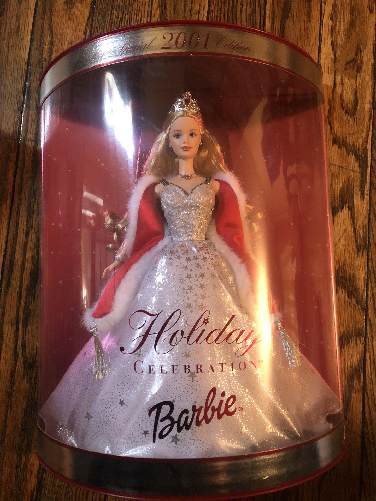 Barbie especial edition 2001 holiday celebration