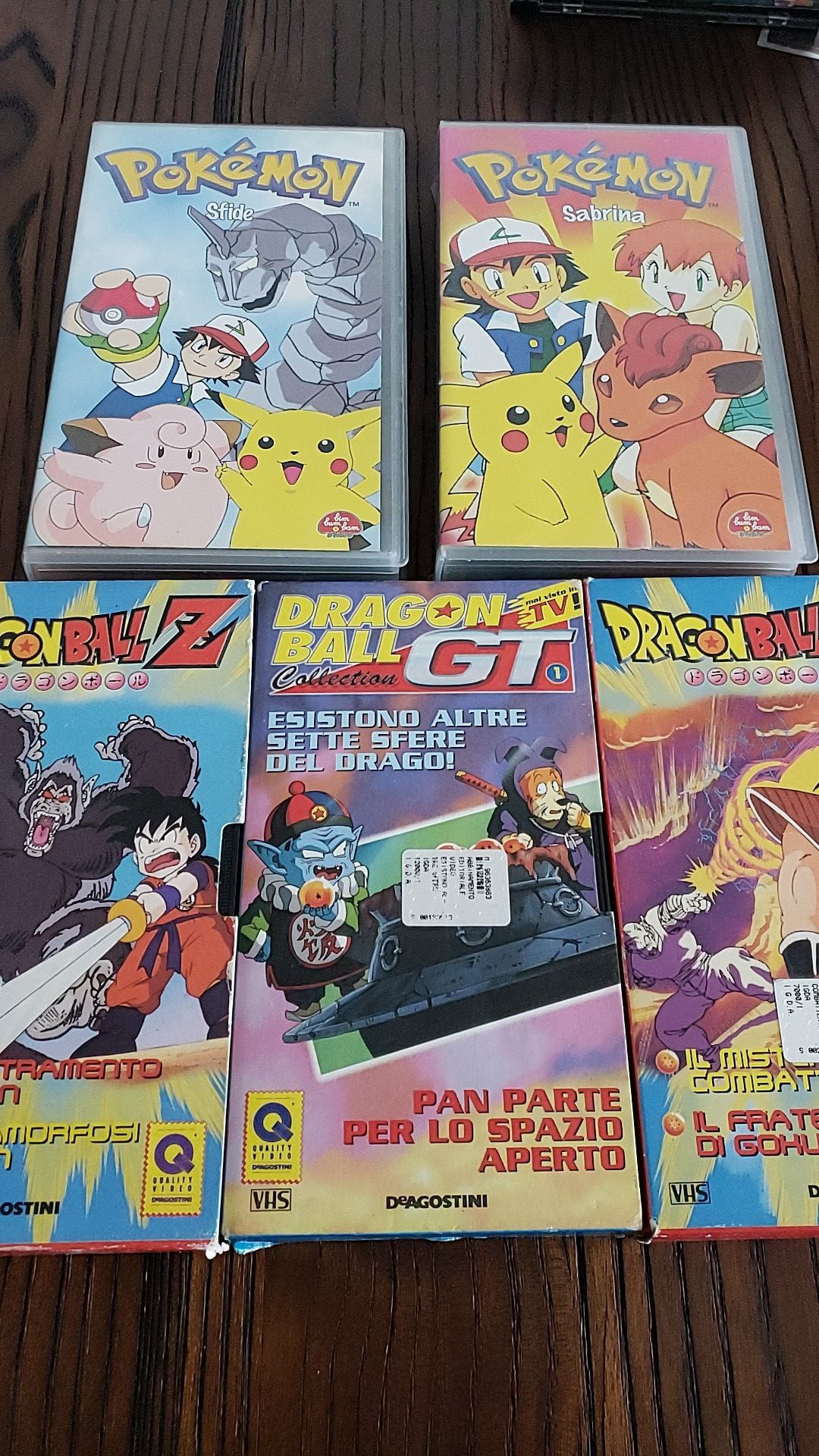 VHS PoKéMoN + DragonBall Z version Italian