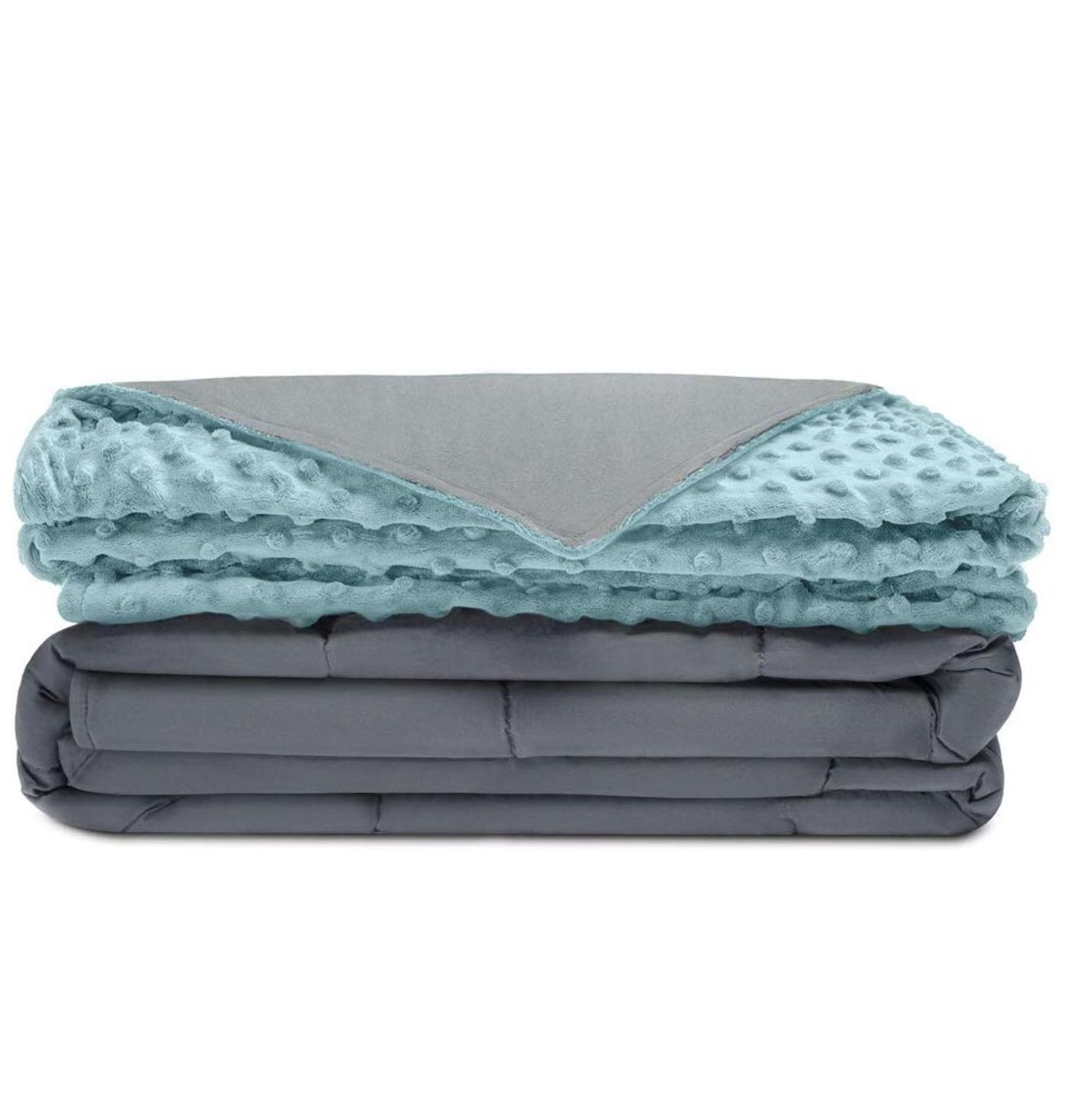 """Premium Weighted Blanket   41""""X60""""   10 LB  Tide - Grey"""
