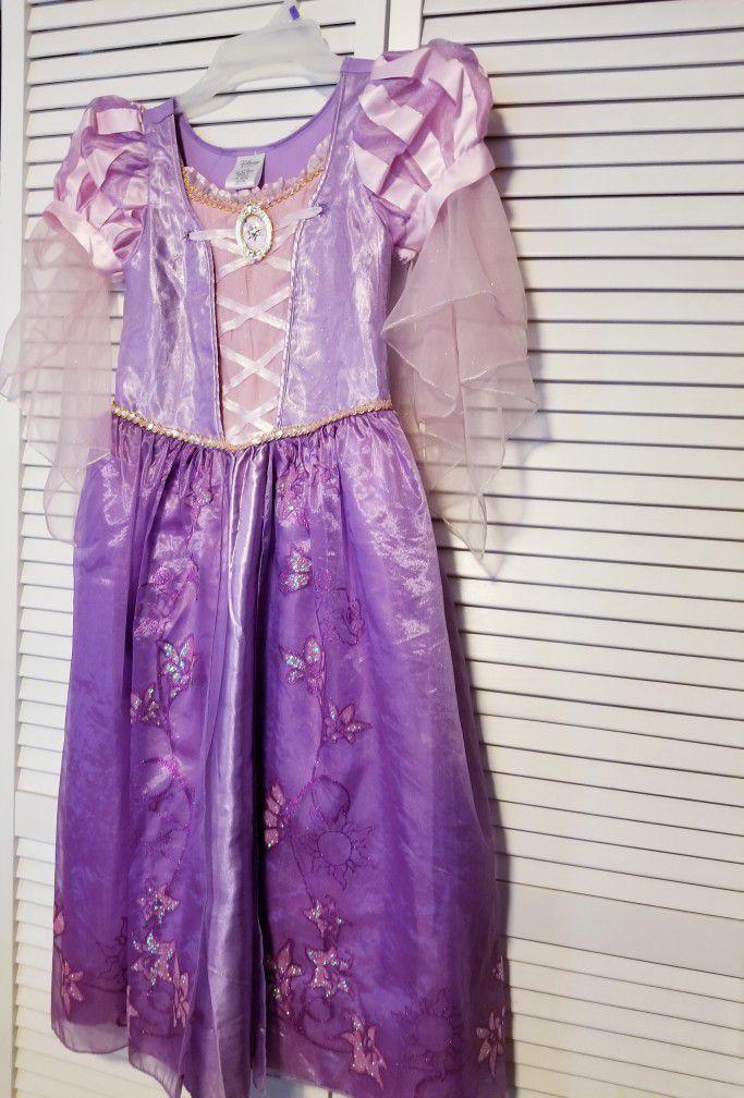 Tangled Rapunzel Dress Costume- Size 9/10