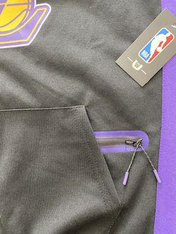 Los Angeles Lakers NBA Men's Hoodie Sweater Black Purple Size Small Thumbnail