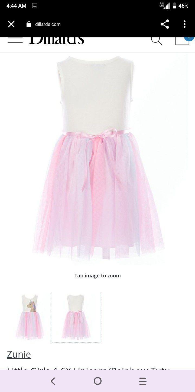 Lilt Zunie Girls Unicorn Tutu Dress