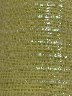 """10"""" DECO MESH Soft YELLOW with Metallic Threads  Woven Poly  10""""W X 30Ft 10yards Thumbnail"""