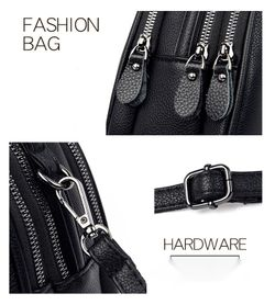 Brand new genuine leather small bag all-match three-layer shoulder bag Thumbnail