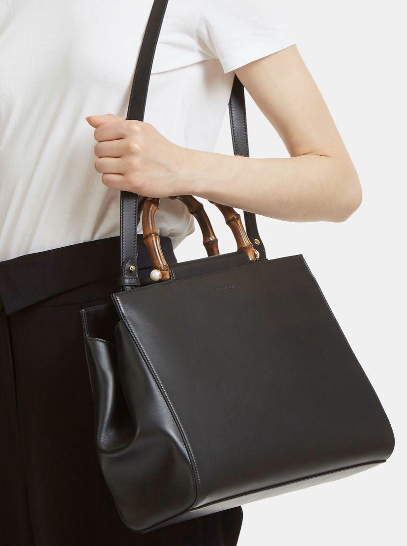 Brand New Gucci Nymphaea Medium Top Handle Bag In Black