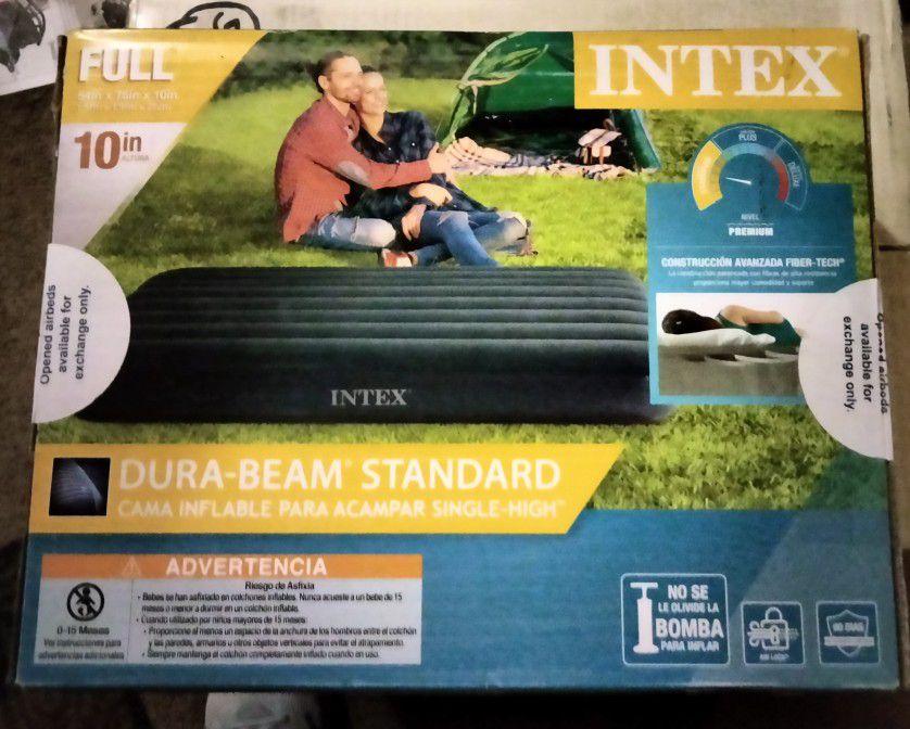 "Intex 10"" Standard Dura-Beam Airbed Mattress - Pump Not Included - Full"