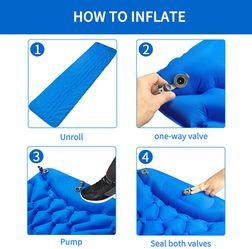Camping Sleeping Pad, Ultralight Sleeping Mat for Backpacking, Hiking Air Mattress - Extra Long, Lightweight, Inflatable & Compact Camp Sleep Mat Thumbnail