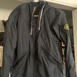 Stone Island Water Proof Jacket With Hood- Size Small Thumbnail