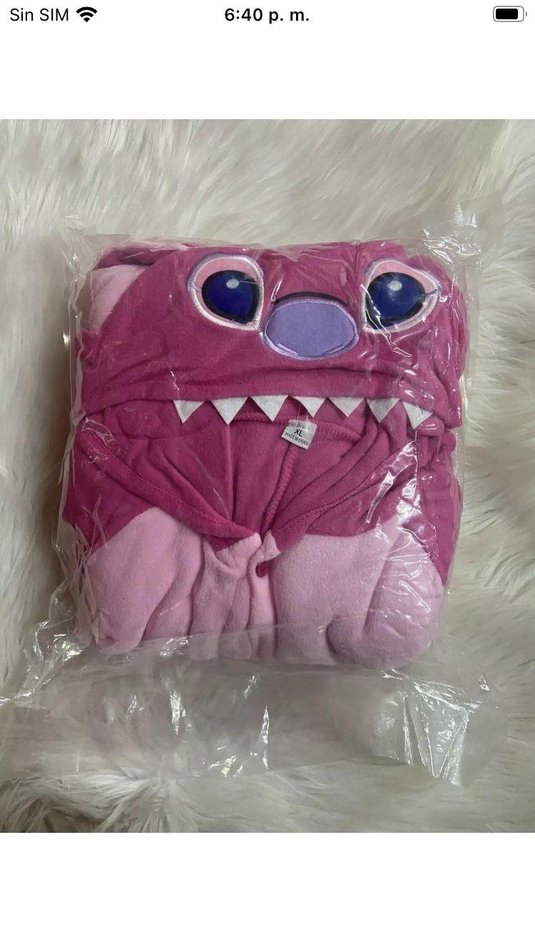 Blau Pink Stich Onesiee Kigurumi Kostüm Kapuzenpullover Pyjama Body