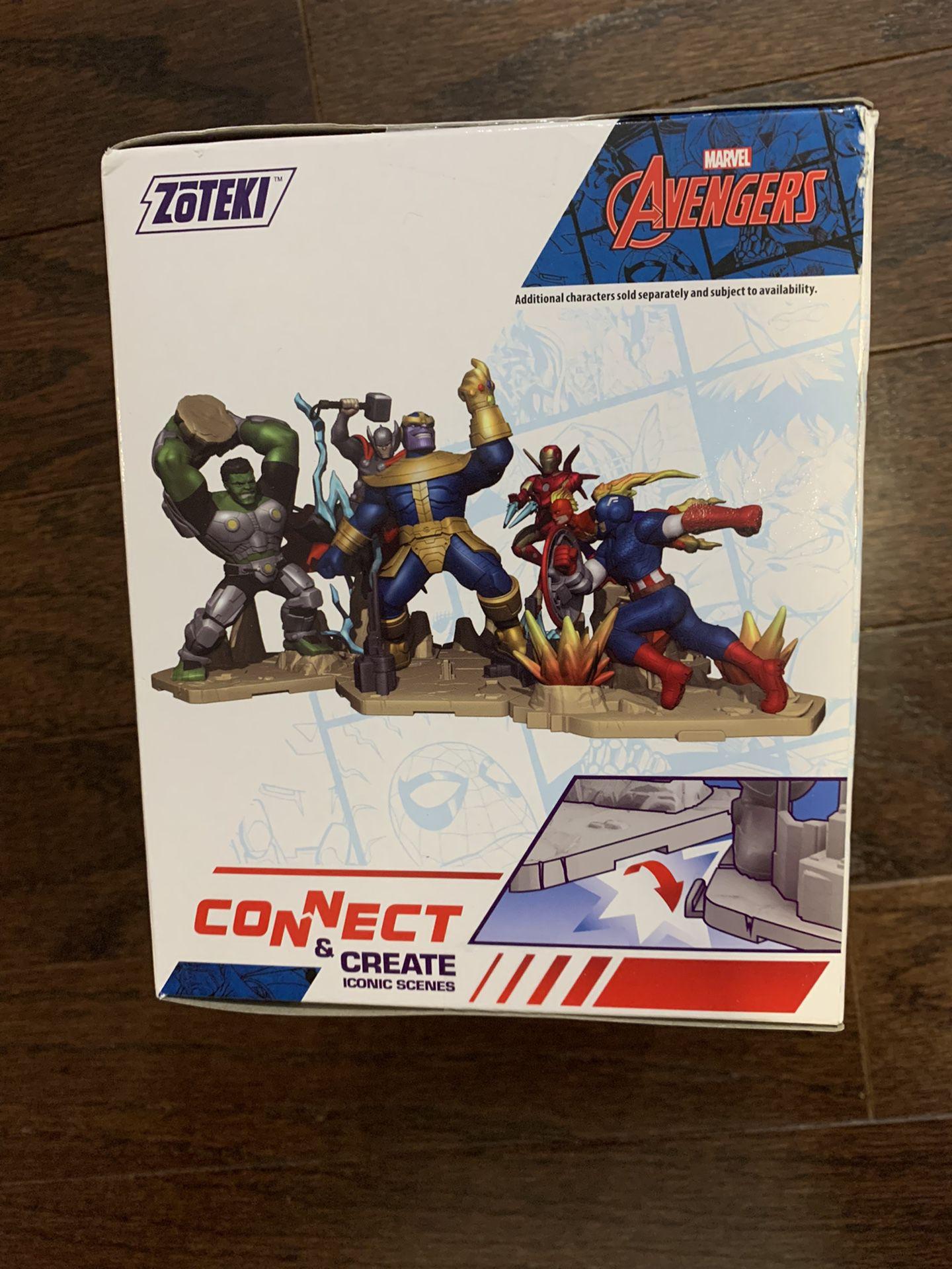 Zoteki Connect & Create Diorama Marvel Avengers CAPTAIN AMERICA NIB MINT RARE!!