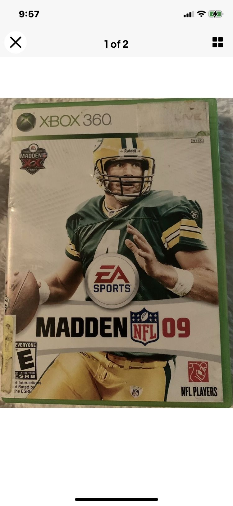 """Madden NFL 09 (Microsoft Xbox 360, 2008). Condition is """"Very Good"""". Shipped with USPS First Class."""