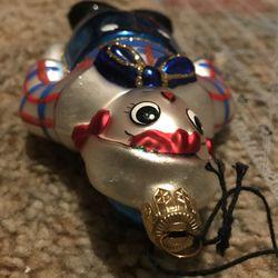 Kurt S. Alder's Raggedy Andy Glass Handmade Ornament Thumbnail