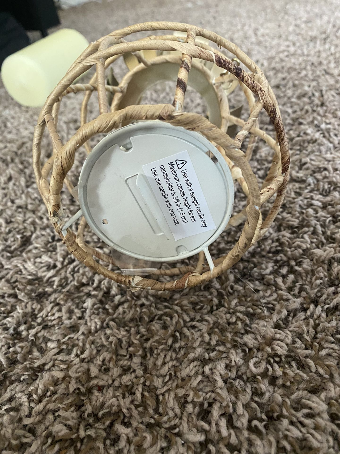 Pineapple candle wicker
